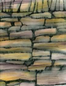 Garden wall fabric ink