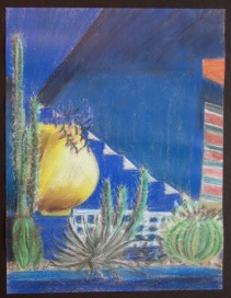 pastel-sketch-jardin-majorelle-marrakesh-2004-copy
