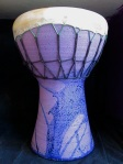 Small Ceramic Darbooka blue:purple, 2012